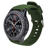 iBazal 22mm Cinturino Silicone Sport Banda Compatibile con Samsung Galaxy Watch 3 45mm/Gear S3 Frontier Classic SM-R760,Galaxy Watch 46mm SM-R800,Huawei GT/2 Classic,Ticwatch PRO Band - Army Green