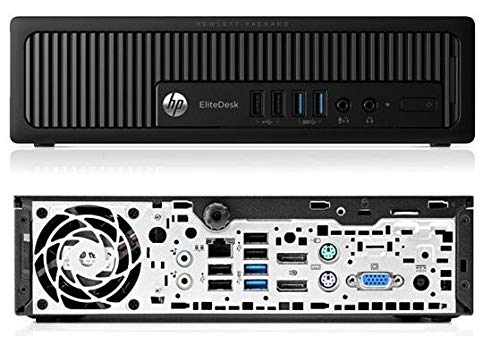 HP EliteDesk 800 G1 USDT Intel Core i5 256 Go SSD Platine 8 Go Speicher Win 10 Pro DVD Brenner C8N28AV Ultra Slim PC Mini Ordinateur (Reconditionné)