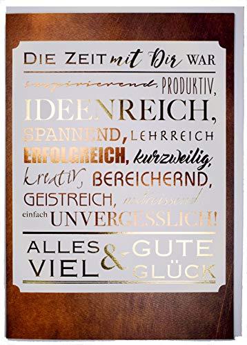 A4 XXL Abschiedskarte Die Zeit mit Dir war - unvergesslich