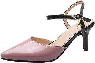 TAOFFEN Women Fashion Pointed Toe Sandals Thin Heels