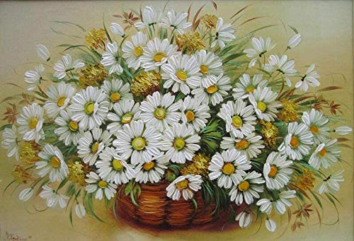 WMNBV Numbers Kits per Adulti per Principianti P Número Chrysanthemum P Número - (40x50cm) Senza corniceNoël, Thanksgiving, cadeaux d'Halloween