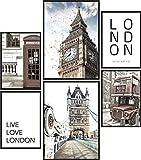 Papierschmiede Poster Set London | 6 Bilder als stilvolle