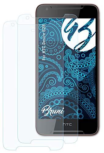 Bruni Schutzfolie kompatibel mit HTC Desire 628 Folie, glasklare Bildschirmschutzfolie (2X)