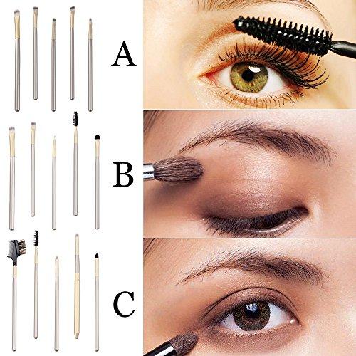 POachers 5pcs Kit de brosse à yeux Kit de pinceau de maquillage-Pinceaux Maquillages Professionnel Yeux Visage Brosse Maquillage Set