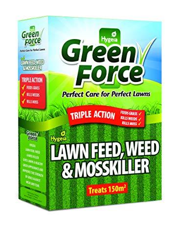 Greenforce Fertilizer Weed Moss Killer, Greens Lawn, Grey