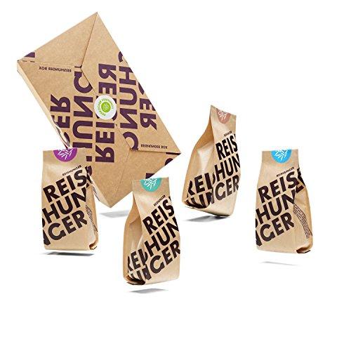 Reishunger Reiskocher Starter Box, 3er Vorteilspack – 4 verschiedene Reissorten (4 x 200 g) - die ideale Auswahl für die Zubereitung im Reiskocher
