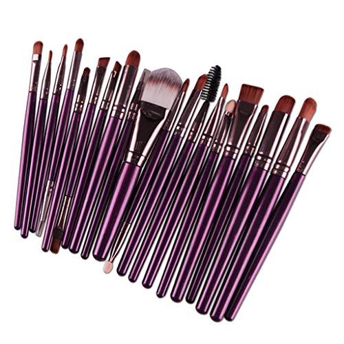 MERIGLARE 20Pack Professional Soft Makeup Brush Set Brushes Cosmétiques Pour Le Maquillage De Beauté - Café pourpre