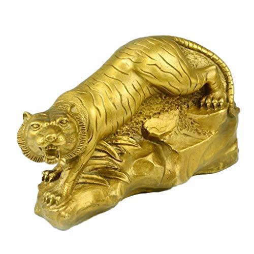 Baoblaze Amuleto de La Suerte Escultura Animal del Zodiaco Chino Estatua de Feng Shui Dinero Riqueza - Tigre, Individual