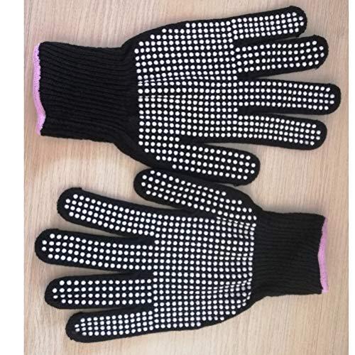 Lurrose Hittebestendige Handschoenen BBQ Grill Handschoenen Koken Wanten voor Kappers Barbecue Grill Fry Turkije Pot Houder Oven Bakken (Zwart)