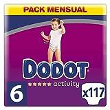 Dodot Activity - Pañales con Ajuste más Resistente,13 kg+, Talla 6, 117 Unidades