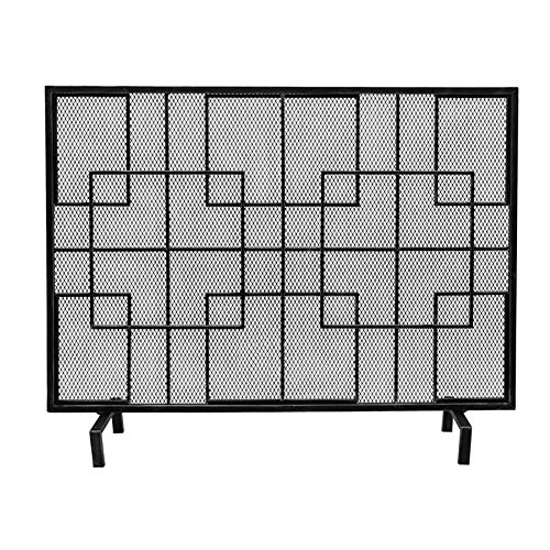Learn More About Fireplace Screens YXX- Single Panel Wrought Iron Mesh, Living Room Decor Fire Spark...
