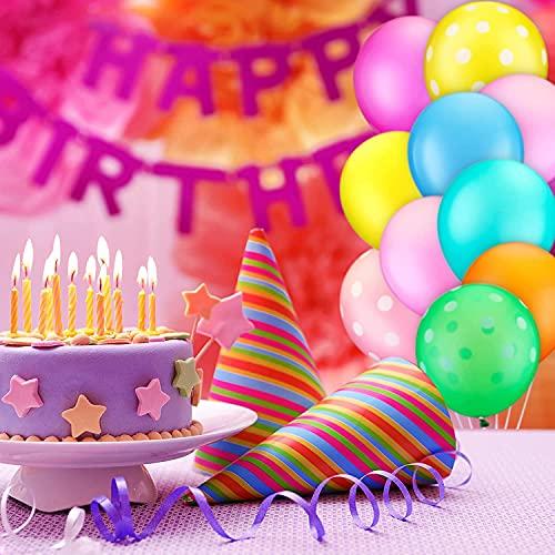 GooodBuy Fiesta de cumpleaños Decoraciones de la fiesta de Lollipop Party Supply con Feliz Cumpleaños Banner Foil Jumbo Globos Latex Globos Pegatinas Pasteleros Toppers Gold Cintas