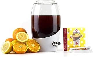Mortier Pilon - Kombucha Starter Kit with 5L Glass Kombucha Jar et Scoby
