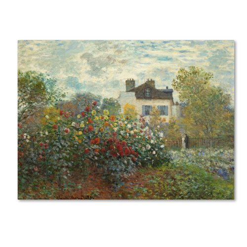 The Artist's Garden in Argenteuil Artwork by Claude Monet, 24 by 32-Inch Canvas Wall