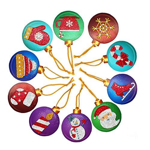 10pcs Home Decor Weihnachts Aufkleber Karten-Set Diamant-malerei Weihnachtsbaum-Dekoration