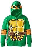 Teenage Mutant Ninja Turtles Boys' Big Costume Hoodie, Shell Green, Medium