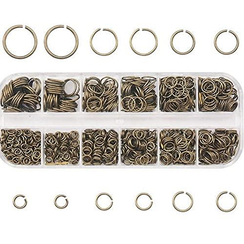 MMYAN 1050 anillos de joyería divididos DIY anillos de enlace pulsera anillo de salto abierto collar anillos divididos para reparación de pulseras hecho a mano
