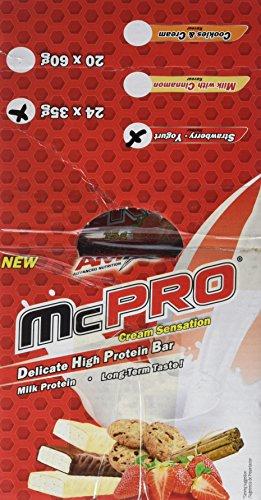 Amix Max-Pro Protein Bar Barrita Energética con Sabor a Frambuesa y Yogur - Paquete de 24 x 35 gr - Total: 840 gr__8594159533615