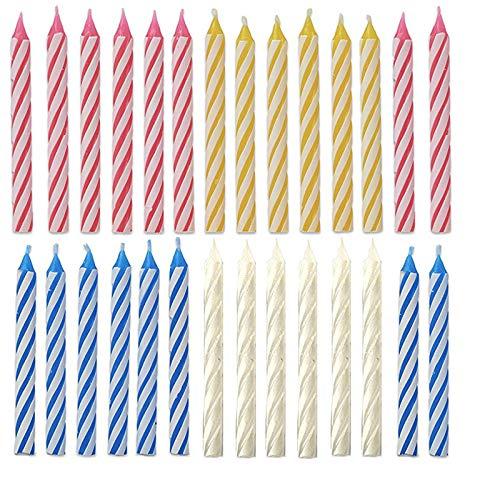 Magic Relight Geburtstagskerzen, 30 Stück Kuchenkerzen Fun Prank Kit Kuchen Tricks und Dekorationen Trickkerze für Geburtstag, Party, Weihnachten, Feier (30pcs relight candles)
