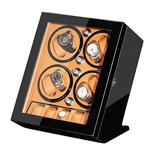 ZCYXQR Caja enrolladora de Reloj automática para 8 Relojes + 5 de Almacenamiento Caja de presentación de Reloj con Acabado de Pintura de Piano Motor silencioso para Relojes de Hombre y Mujer