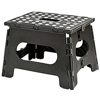 Handy Laundry Folding Step Stool - The Lightweight Step Stool is Sturdy Enough to Support Adults Safe Enough Kids. Opens Easy One Flip. Great Kitchen, Bathroom, Bedroom, Kids Adults.
