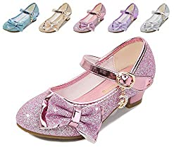 Pink/Ce Heels Mary Jane Princess Flower Girl Shoes