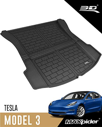 3D MAXpider-M1TL0041309 All-Weather Cargo Liner for Tesla Model 3 2017 2018 2019 2020 2021 Custom...