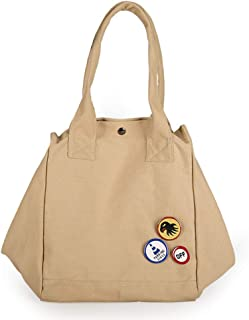 Handbag, Shoulder Bag, Canvas Material, Large Capacity, Simple and Stylish, Light and Literary, Suitable for Dating, Shopping, School,Coffee