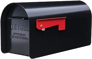 Gibraltar Mailboxes Ironside Large Capacity Galvanized Steel Black, Post-Mount Mailbox, MB801B