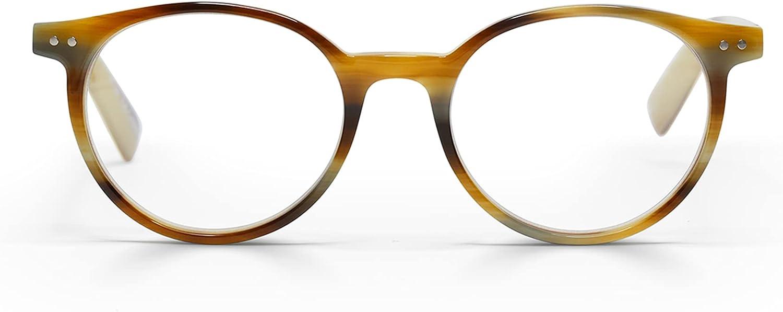 eyebobs Case Closed Unisex Blue Light Reading Glasses for Men and Women | Square Eye Glasses