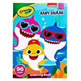 Crayola Baby Shark Coloring Book with Stickers, Gift for Kids, 96 Pages, Ages 3, 4, 5, 6