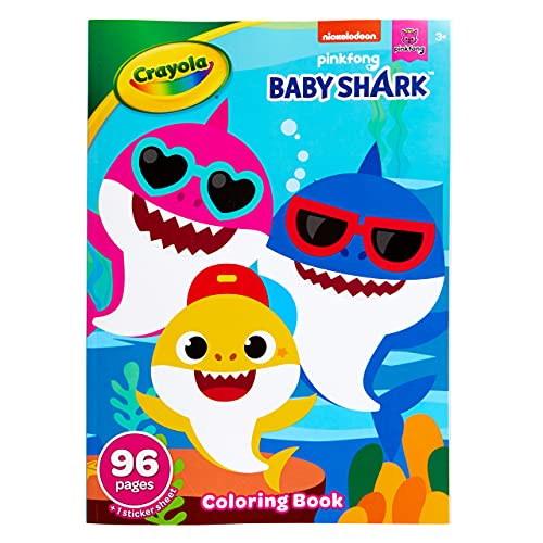 Crayola Baby Shark Coloring Book with Stickers 96-Pages Only $1.99 (Retail $3.99)