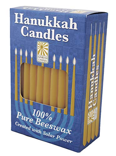 SUNBEAM CANDLES Hanukkah Beeswax Taper Candle, 1 EA