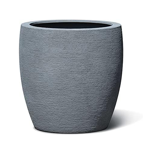 VAPLANTO® Pflanzkübel VASE 60 Stein Grau Rund XL * 61 x 61 x 61 cm * 10 Jahre Garantie