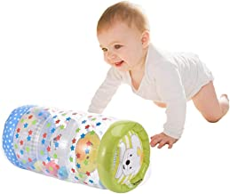 Per Crawling Plastic Training Roller Infant Inflatable Durable Roller Exercise Early Learning for Infants Toddlers Tummy Time Stimulation Growth Activity Play Centers