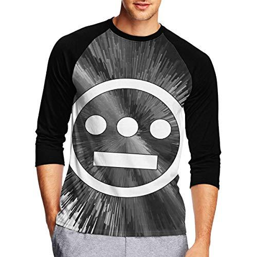 KellySotoUS Hieroglyphics Underground Hip hop Collective Men 3/4 Raglan Sleeve Baseball Print T Shirt Medium Black