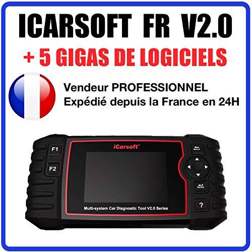 Maleta de diagnóstico para coche Pro iCarsoft FR V2.0 – Especial Peugeot Citroën Renault Dacia