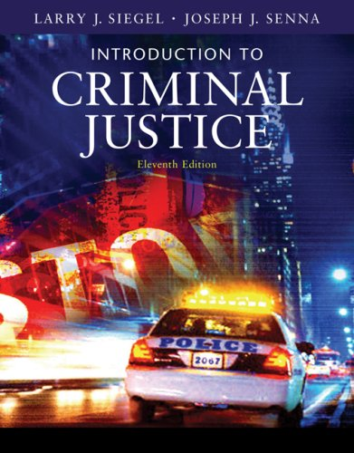 Introduction to Criminal Justice (Available Titles CengageNOW)