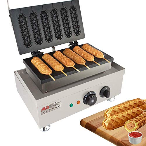 ALDKitchen Hot Dog Waffle Maker Commercial Lolly French...