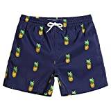 MaaMgic pantalocini da Bagno per bambimi Ragazzi Asciugatura Rapida Costume da Mare Spiaggia Piscina Slip Interno, Ananas Blu, 5-6 Anni