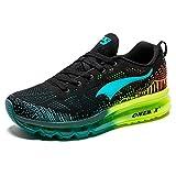 ONEMIX Hombres Zapatillas Deporte Running Aire Libre Respirable Zapatos para Correr Gimnasio Sneakers 1118 Negro/Azul 42EU