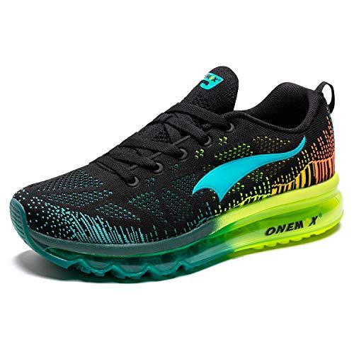 ONEMIX Hombres Zapatillas Deporte Running Aire Libre Respirable Zapatos para Correr Gimnasio Sneakers