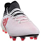 adidas Mens X 17.1 Firm Ground Soccer Casual Cleats, White, 8.5
