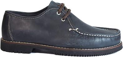 Zapatos para Hombre Fabricados en Piel Línea Apache Wallabee Cordón Azul