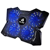 KLIM™ Wind + Base de refrigeración para portátil + La más Potente + Refrigerador portátil de 4 Ventiladores a 1200 RPM con Soporte + Compatible con Todos los tamaños + Azul + Nueva VERSIÓN 2020