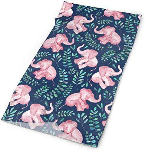 Voxpkrs Outdoor Multifunctional Laughing Pink Baby Elephants Bandana Headwear Sports Headband Magic Scarf Mens Womens