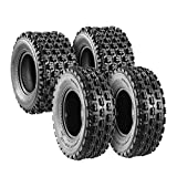 Set of 4 Sport ATV Tires 22x7-10 Front & 20x10-9 Rear UTV Tires 4PR 22x7x10 ATV Quad Tires - 10077/10081