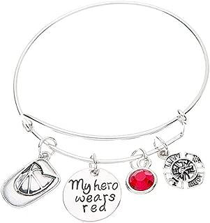 Firefighter Bracelet, Red Line Bracelet, Firefighter Wife, Girlfriend, Mom Bracelet, Fireman Wife Jewelry
