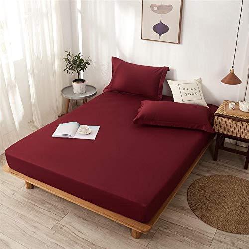 haiba Sábana bajera ajustable extra profunda para cama de tamaño king solamente, sin fundas de almohada, transpirable, no se decolora, 150 x 200 cm + 30 cm