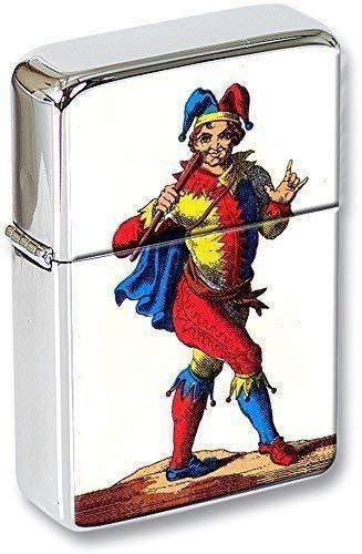 Tarot (Le Tapete, el Joker ) Mechero con Tapa en una Lata de Regalo